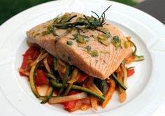 Awesome cedar plank grilled salmon