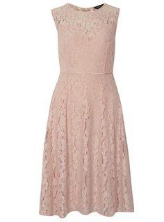 Blush lace midi dress. $59
