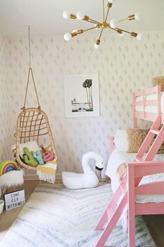Discover these totally funky girls rooms - musical, bold, colourful with neonlights,patterned textiles and fun posters are some of the features and elements