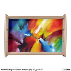 Abstract Expressionist Painting Serving Tray
