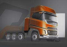 on Behance Volvo Cars, Lamborghini Cars, Volvo Trucks, Bugatti, Cool Trucks, Big Trucks, Truck Design, Futuristic Cars, Camping Car