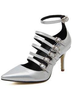 Shop Silver Point Toe Buckle Strap High Heeled Pumps online. SheIn offers Silver Point Toe Buckle Strap High Heeled Pumps & more to fit your fashionable needs.