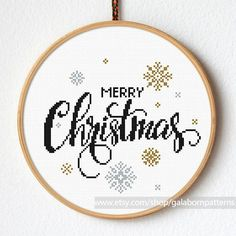 Christmas snow cross stitch Modern cross von galabornpatterns