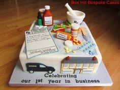 Pharmacy Celebration Cake by Noreen@ Box Hill Bespoke Cakes
