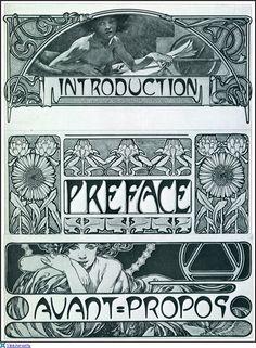 Орнаменты и графика модерна. Alphonse Mucha - Documents Decoratifs. Обсуждение на LiveInternet - Российский Сервис Онлайн-Дневников