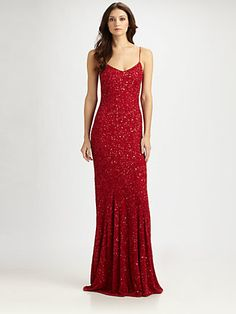Theia Sequined Slip Gown. I. Love. This! Even if it is a little Jessica Rabbit-ish ;)