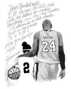 Kobe Bryant Quotes, Kobe Bryant 8, Kobe Bryant Family, Dear Basketball Kobe, Love And Basketball, Basketball Players, Kobe Bryant Daughters, Entertaining Movies, Kobe Bryant Black Mamba