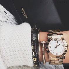 Perfect fall accessories! Lv bangle, cartier bracelet & watch! loooove!