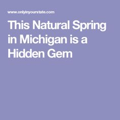 This Natural Spring in Michigan is a Hidden Gem