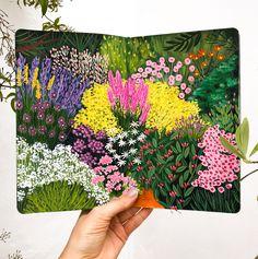 Art Journal Inspiration, Art Inspo, Botanical Illustration, Illustration Art, Guache, Illustrations, Art Sketchbook, Botanical Prints, Watercolor Art