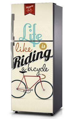 Naklejka na lodówkę - Bicycle