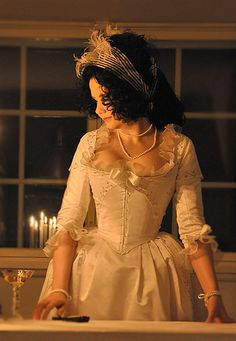 """""""...In the Evening I went to the Ball. I had an English Night Gown of muslin with silver sprigs and all white...""""  Extracts from corresponde..."""
