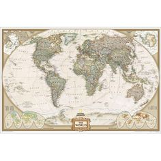 AUSTRALIA MAP POSTER WALL CHART PICTURE PRINT NEW ART 16/'/'x13/'/' inches 01