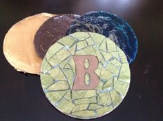 Homemade mosaic coasters... next art project!
