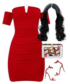 A fashion look from August 2017 featuring bodycon dresses, red shoes and white clutches. Browse and shop related looks. Swag Outfits For Girls, Cute Swag Outfits, Teen Fashion Outfits, Night Outfits, Cute Casual Outfits, Look Fashion, Sexy Outfits, Stylish Outfits, Girl Outfits