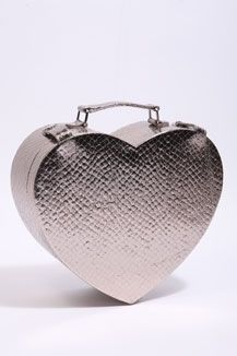 Urban Outfitters - Metallic Snake Heart Bag - StyleSays