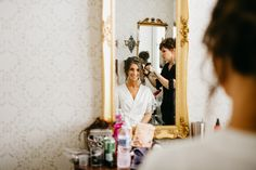 Lowndes Grove Plantation Wedding. bride getting ready. Lowndes Grove Plantation Wedding, Charleston Wedding Photographer. To see more go to http://www.monikagauthier.com/lowndes-grove-plantation-wedding-janelle-john/