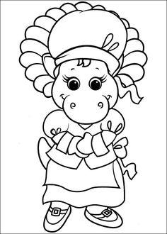 Barney och vänner Målarbilder för barn. Teckningar online till skriv ut. Nº 14