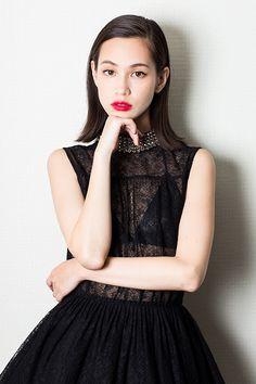 Kiko Mizuhara wearing Saint Laurent dress and boots at the Attack On Titan premiere in Japan x via: Team Mizuhara