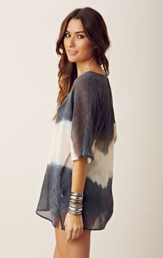 gypsy 05 tie front tunic cover up.