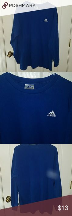 Adidas longsleeve tshirt Blue longsleeve tshirt. Adidas Shirts Tees - Long Sleeve