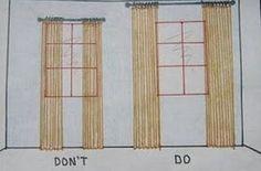 Alza las cortinas para que el techo parezca más alto.   13 Maneras fáciles y baratas de decorar tu dormitorio