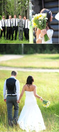 LOVE!!! Exactly the kind of look for the boys and the bouquet I want.