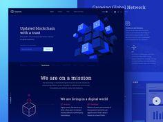 New Blockchain Technology Website Design