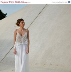New Year Sale Romantic wedding dress with lace top and by Barzelai