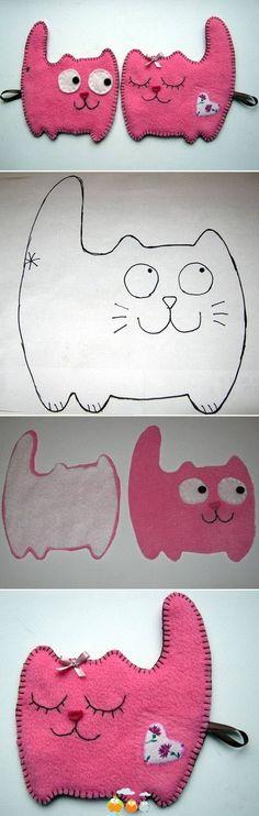 pareja de gatitos de Felpa