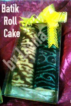 Indonesian Batik Roll Cake