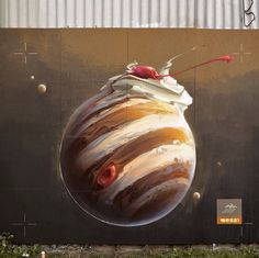 Playful New Murals and Paintings by 'Wes21′ Fuse Technology, Humor, and the Natural World  http://www.thisiscolossal.com/2015/06/wes-21-murals-and-paintings/