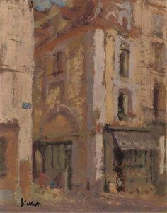 a street corner dieppe - sickert