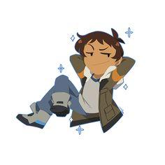 VLD fanart - chibi Lance is chilling~ Shiro would be ashamed