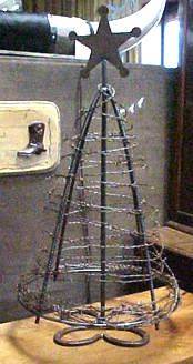 Barbwire Tabletop Christmas Tree $99.00