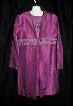 KC Parker Girls Size 14 Dress Suit Shift & Coat 100% Silk Easter Flower Girl #KCParker #DressyHolidayPageantWedding