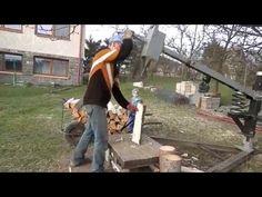 Дровокол cамодельный пружинный - Štípačka - YouTube