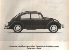 Volkswagen Beetle Ad, Life Magazine 1960's  Advertisement For Volkswagen, 1967 VW Bug Ad,  Radical Changes