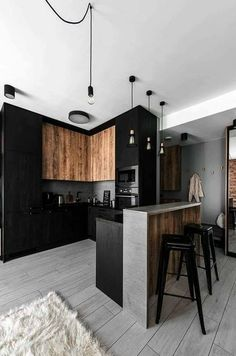 Kitchen Interior Design – Kitchen is a place for us to make favorite food. Therefore the kitchen must make us . Industrial Kitchen Design, Kitchen Room Design, Modern Kitchen Design, Home Decor Kitchen, Interior Design Kitchen, Kitchen Furniture, Furniture Stores, Furniture Ideas, Flat Interior Design
