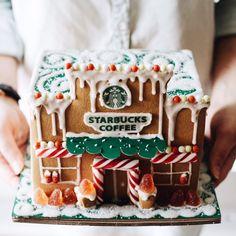Starbucks Gingerbread House