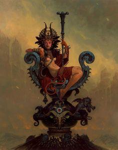 unframed art poster fantasy nude woman on throne - Fantasy Poster - Ideas of Fantasy Poster Dark Fantasy Art, Fantasy Artwork, Dark Art, Tattoo Avant Bras, Concept Art Landscape, Character Art, Character Design, Character Concept, Concept Art World
