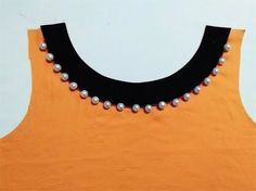 Pearl Boat Neck Design for KurtisKurti Neck Designs Cutting and Stitching - Tutorial - Crazzy Crafts We're back with another new and beautiful Neck Design for Kameez (Kurti). ► Today, we're going to show - Latest Front Boat Neck Design for. Churidhar Neck Designs, Salwar Neck Designs, Churidar Designs, Neckline Designs, Kurta Neck Design, Neck Designs For Suits, Sleeves Designs For Dresses, Blouse Neck Designs, Hand Designs