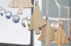 VINTER houten decoratie #IKEABE #kerst  #kerstdecoratie #feest