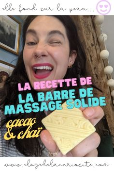 La recette de la barre de massage solide chaï & cacao - DIY facile ! Pain de massage maison - Huile de de massage fondante et épicée #DIY #recette #massage #écologique #zérodéchet #zerodechet #barredemassage