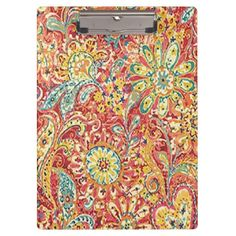 Colorful Floral Clipboard http://www.zazzle.com/colorful_floral_clipboard-256534520806663549?rf=238271513374472230  #school supplies