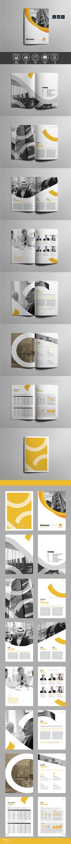 Brochure Template InDesign INDD - 16 Unique Pages