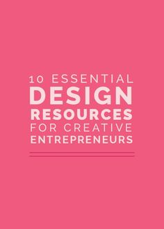 Today I'm sharing my top 10 design essentials on the blog!