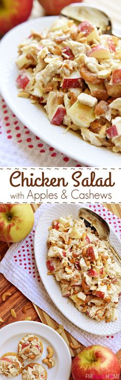 Chicken Salad with Apples and Cashews ~ a honey-kissed autumn spin on classic So. - Chicken Salad with Apples and Cashews ~ a honey-kissed autumn spin on classic Sonoma Chicken Salad - Chicken Salad With Apples, Chicken Salad Recipes, Recipe Chicken, Chicken Salads, Autumn Recipes Chicken, Smoked Chicken Salad, Fall Recipes, Great Recipes, Favorite Recipes