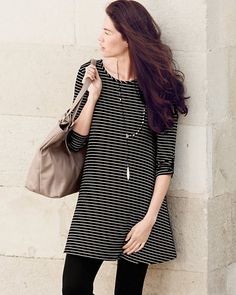 French Terry A-Line Tunic