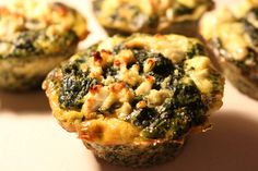 Low Carb Spinat Feta Muffins